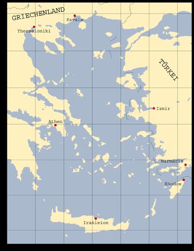 Peloponnes Karte Regionen.ägäis Skipperguide Informationen Von Seglern Für Segler